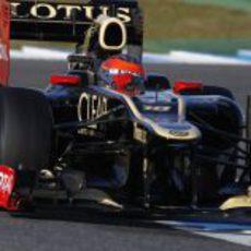 Grosjean a los mandos del Lotus en Jerez