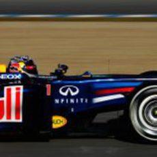 Vettel con el RB8 en Jerez