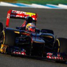 Jean-Eric Vergne prueba el STR7 en Jerez