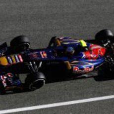 Plano cenital de Vergne en el Toro Rosso
