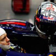 Nuevo casco de Vettel para los test de Jerez