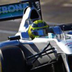 Rosberg en el tercer día en Jerez