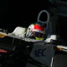 Sergio Pérez en Jerez con Sauber