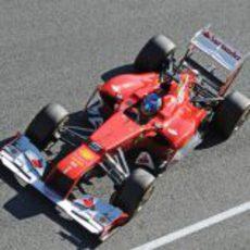 Plano superior del Ferrari de Alonso en Jerez