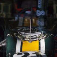 Detalle del Caterham de Trulli en Jerez