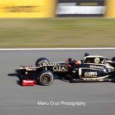Romain Grosjean con el E20 en Jerez