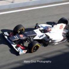 Kamui Kobayashi sale a rodar en Jerez