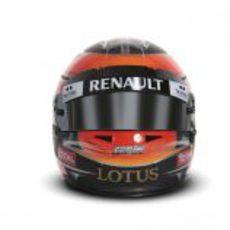 Casco de Romain Grosjean para 2012 (vista frontal)