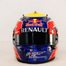 Casco de Mark Webber para 2012 (vista frontal)