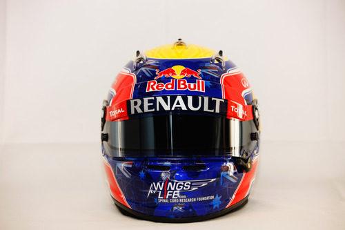 Casco de Mark Webber para 2012 (vista frontal)
