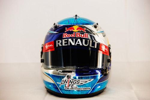 Casco de Sebastian Vettel para 2012 (vista frontal)