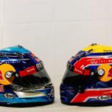 Cascos de Sebastian Vettel y Mark Webber para 2012