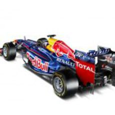 Vista trasera del Red Bull RB8