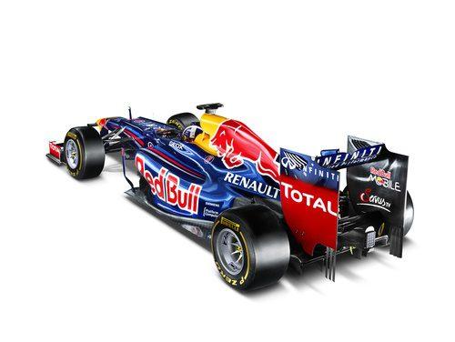 Vista trasera del Red Bull RB8