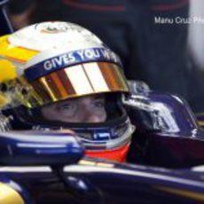 Jean-Eric Vergne en su STR7 en Jerez