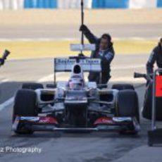 'Pit Stop' de Kamui Kobayashi en Jerez