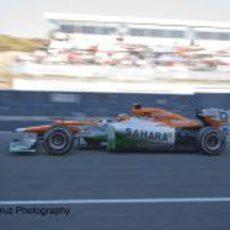 Nico Hülkenberg sale a pista con el VJM05