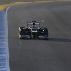 Bruno Senna rueda con el Williams en Jerez