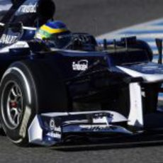 Senna pilotando el Williams FW34 en Jerez
