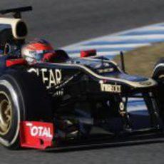 Romain Grosjean rodando en Jerez