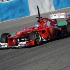 El Ferrari F2012 con Fernando Alonso al volante