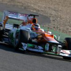 Hülkenberg rueda con el Force India en Jerez