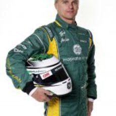 Heikki Kovalainen con su casco de 2012