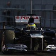 Bruno Senna en Jerez con un extraño artilugio