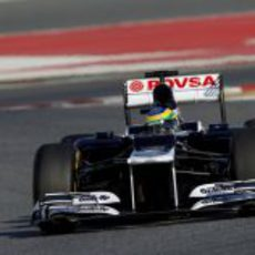 Bruno Senna con el Williams en los test de Barcelona