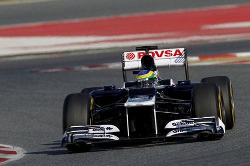 Bruno Senna con el Williams en los test de Barcelona