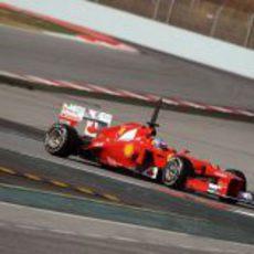 Fernando Alonso en los test de Barcelona