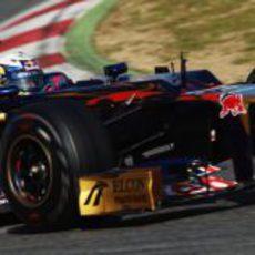 Daniel Ricciardo en los test de Barcelona