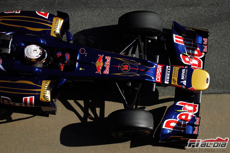 Vista superior del Toro Rosso de Ricciardo