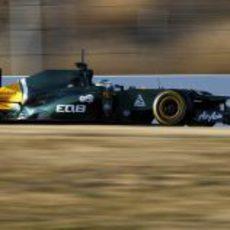 Heikki Kovalainen en los test de Barcelona