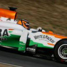 Hülkenberg en pista con el VJM05