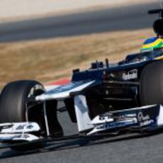 El Williams de Senna en los test de Barcelona