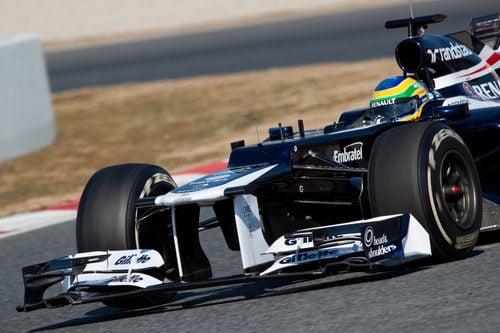 El Williams de Senna en los test de Barcelona