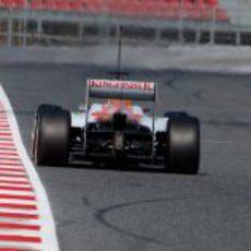 Vista posterior del Force India de Hülkenberg