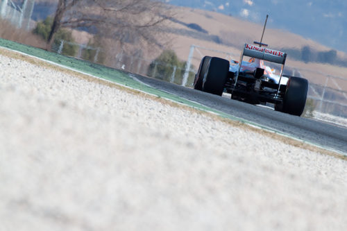 Force India VJM05 en los test de Barcelona