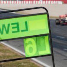 Cartel de Lewis Hamilton en Barcelona