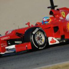 El Ferrari F2012 rueda en Barcelona