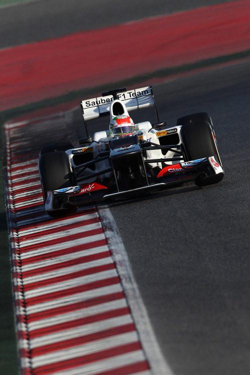 El Sauber C31 de Pérez en Montmeló