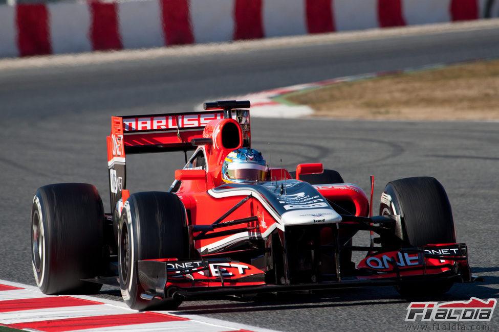 Charles Pic con el Marussia de 2011