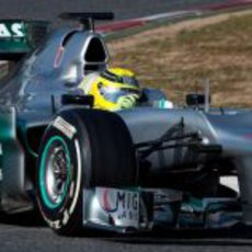 Rosberg con el W03 en los test de Barcelona