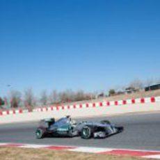 Rosberg en los test con el W03