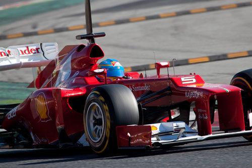 Primer plano del Ferrari F2012 de Alonso