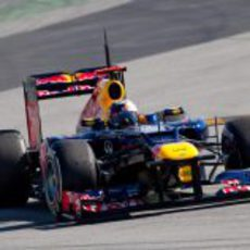 Vettel en los test con el Red Bull RB8