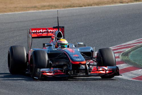 Lewis Hamilton en los test de Barcelona con el McLaren