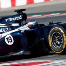 Valtteri Bottas con el Williams en Barcelona