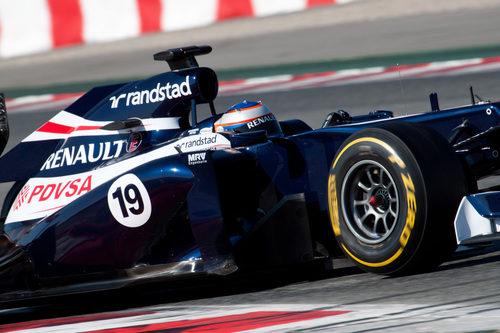 Valtteri Bottas con el Williams en Barcelona